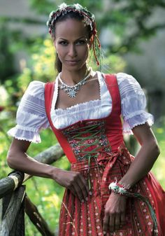 When I get my authentic Dirndl, and I will someday, it will not be one of those smutty Oktoberfest costumes sold as a roleplay dress-up for the boudoir, it'll be a beautiful gown, much like this one.