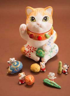 Lucky cat and friends... (with veggies)