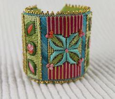 New Needlepoint Cuff - The flower cuff