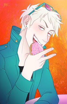 Nom nom donut by Jackce-Art Hetalia Germany, Germany And Prussia, List Of Sins, Gilbert Beilschmidt, New Profile Pic, Hetalia Axis Powers, Anime Ships, All Anime, Fan Art