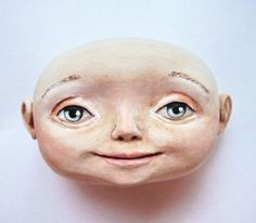 Air Dry Clay Tutorials: How to Create This Art Doll including How to Sculpt Head and Build Body