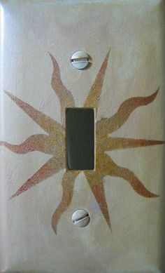 Sun rays - switch plate cover