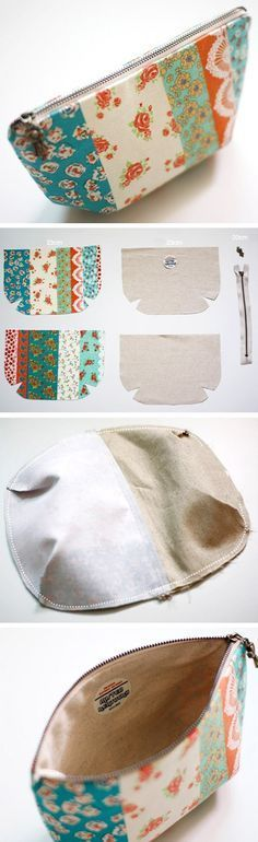 Zippered Pouch Tutorial How to make tutorial vintage cosmetic bag purse DIY step by step tutorial instruction wwwhandmadiyaco… - Makeup Products Zipper Pouch Tutorial, Purse Tutorial, Cosmetic Bag Tutorial, Cosmetic Pouch, Pencil Case Tutorial, Diy Bags Purses, Diy Purse, Sewing Tutorials, Sewing Projects