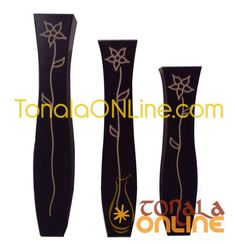 jarrones decorativos en madera de tonala jalisco tonal