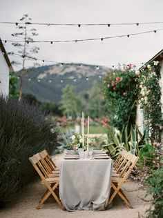Romantic Rose Farm Reception Under Bistro Lights