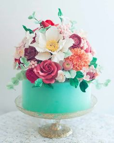 The prettiest birthday cake ever photography inspiration cake blue publicscrutiny Choice Image