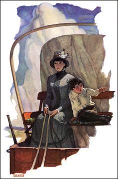 N.C. Wyeth--Covered wagon journey.
