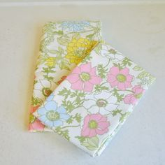Vintage Pair of Floral Pillow Cases