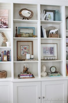Bookshelf Decorating Tips.Decorating Shelves In A Farmhouse Kitchen. Living Room Bookcase Tv Stand With Matching Bookcases . Home and Family Decor, Bookshelves, Bookshelf Decor, Furniture Decor, Decorating Bookshelves, Interior Design Living Room, Interior Decorating Living Room, Bookcase Decor, Home Decor Furniture