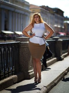 Last updated on June 2016 at pmIf you want to create a super chic and feminine outfit, you can combine a pencil skirt or stylish pants with a plus size peplum top. It's pretty practical, elegant and you can… Continue Reading → Plus Size Looks, Curvy Plus Size, Plus Size Women, Work Fashion, Curvy Fashion, Plus Size Fashion, Plus Size Peplum, Plus Sise, Cute Work Outfits