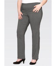 Haine XXL: Pantaloni office gri marmorat