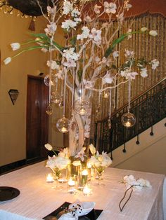 Manzanita branches with crystals wedding invitations