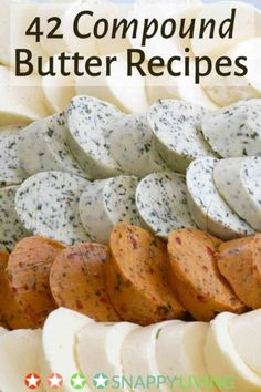 42 Compound Butter Recipes Compound Butter is better than just normal butter. Even if the recipes are just butter plus a couple of ingredient. The product becomes something more. A lot of these recipes are meant for spreading on bread however there is a use for almost any of them. The garlic and pesto butter … Continue reading »