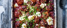 Greek Lamb Meatballs Recipe with Feta and Tomato