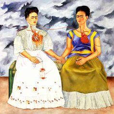 Reinette: Frida Kahlo and Diego Rivera Frida Y Diego Rivera, Frida Diego, Frida Art, Famous Artists, Great Artists, Frida Paintings, Paintings Famous, Original Paintings, Frida Kahlo Portraits