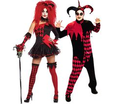 twisted jester couple costumes   Jester Couple Costume   Halloween ...