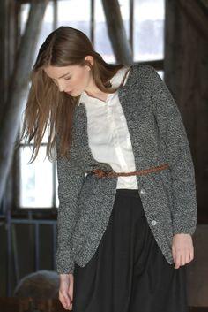 Naisen neuletakki Novita 7 Veljestä Nostalgia   Novita knits