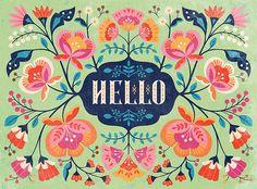 gifford_Portfolio_PV__DesignHouseGreetings_HelloFlorals Clarice Gifford