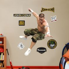 Put Your Passion On Display With A Giant John Cena Action Fathead Wall Decal ! Part 32