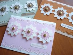 79.Stampin'UPのお花のパンチでThank youカード | 簡単手作りカード Chocolate Card Factory Flower Cards, Flowers, Royal Icing Flowers, Flower, Florals, Floral, Blossoms