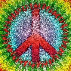 Abstract Peace Sign Digital Art by Phil Perkins - Abstract Peace ...