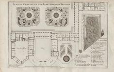 Plan détaillé annoté du Grand Trianon à la fin du règne de Louis XIV. Pierre Lepautre