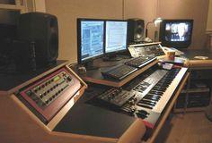 Wonderful Studio Desks On Pinterest Recording Studio Studio Desk And Edm within Studio Desk Setup