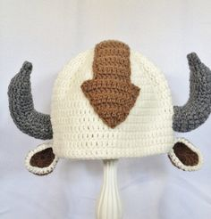 Appa the Flying Bison hat Avatar Last by foryouandmedesigns, $25.00  Adult size, without the horns.