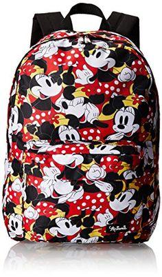 Disney Minnie Polka Dots All Over Print Backpack,Multi,One Size Disney…