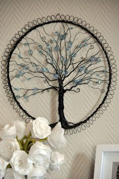 I would love to do something like this using The Tree Of Life and hang it on the fence in the garden. The fence needs some art!