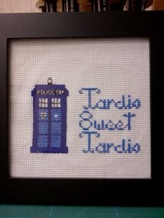 Tardis Sweet Tardis  Made as a housewarming gift for some fellow Dr Who fans.