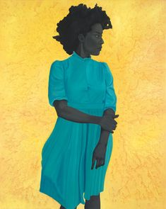Amy Sherald  Saint Woman  2015, 54 x 43 inches, Oil on canvas