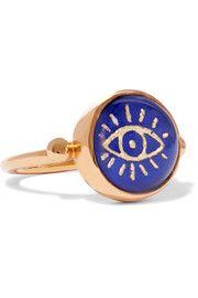 Katerina Makriyianni - Gold-plated lapis lazuli ring