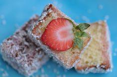 Happy Australia Day – Strawberry lamingtons (www.amaltesemouthful.com)