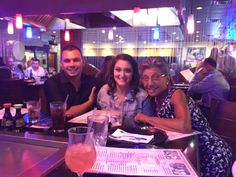 My grandson, Ryan, Gina Pizzi and yours truly at the bar....I had my ice water and lemon!!!