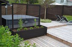 Planteringslåda Garden Cottage, Backyard Retreat, Backyard Patio, Garden Spaces, Garden Beds, Indoor Garden, Outdoor Gardens, Side Yard Landscaping, Pergola