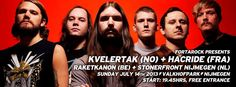 Gratis naar Kvelertak, Hacride, Raketkanon en Stonerfront Nijmegen \m/
