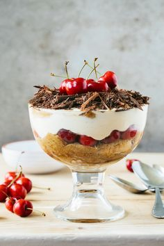Cherry Tiramisu  This must be our favorite summer dessert (aside from all the ice cream) We love everything about it, the combination of × mascarpone cheese × dark chocolate × cherries × kirsch × coffee, we love how light and summerish it is, we love the texture and colors. Simple and incredibly delicious.  | jernejkitchen.com