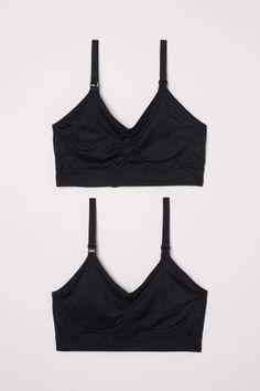 8b18c20c18a Powder pink black. Nursing bras in soft stretch fabric with lace ...