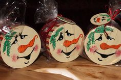 Beautiful hand-painted keepsake box full of candy with attached wooden Christmas ornament, Small 8.00 Medium 10.00 Large boxes are filled with individual packages of cookies for 12.00. Makes a perfect gift.