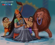 Stree ko to gantavya se vimukh na rakhe are. Saraswati Goddess, Kali Goddess, Mother Goddess, Mahakal Shiva, Shiva Art, Hindu Art, Lord Ganesha Paintings, Lord Shiva Painting, Lord Durga