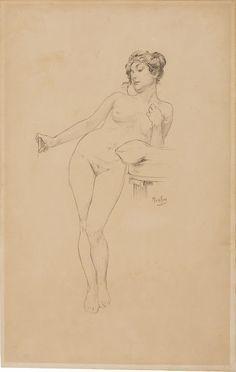 Alfons Mucha (1860-1939), La Pose du modèle - 1898