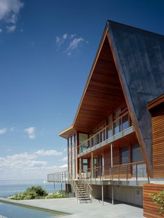 coastal style and staircases | ... : Modern Beach Style Gloucester House Exterior With Outdoor Stairs