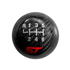 Order this Ford Performance Carbon Fiber Shift Knob with a Pattern and ST Logo for your Focus ST or Fiesta ST today from CJ Pony Parts. This shift knob retains the factory reverse lockout feature and has a weaved carbon design. Ford Fiesta St, St Logo, Ford Focus, Tripod, Knob, Carbon Fiber, Shirt Ideas, Motorcycles, Cars