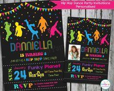Free Dance Party Invitations Girl Birthday Ideas