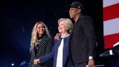Beyonce, Jay Z Headline Star-Studded Hillary Clinton Concert -      They're with her.    Jay Z  and  Beyonce  headlined a star-studded concert in support of Democratic nominee  Hillary Clinton  in Cleveland Friday...