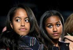 Malia & Sasha Obama. Sooo very gorgeous.