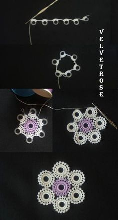 This Pin was discovered by Şeh Thread Crochet, Crochet Doilies, Crochet Flowers, Crochet Lace, Free Crochet, Crochet Edging Patterns, Crochet Borders, Knitting Patterns, Irish Crochet