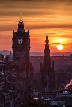 Edinburgh Sunset by Mike Smith