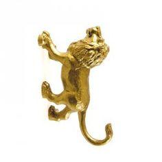 Wieszak Wild Cats - Lew - złoty